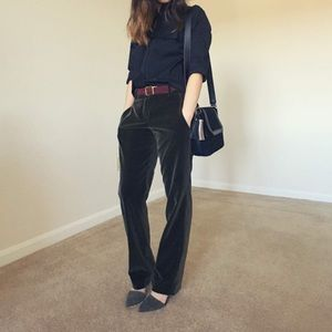 🆕 {{theory}} Olive Velvet Trousers